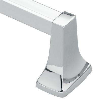Contemporary 24 in. Towel Bar in Chrome