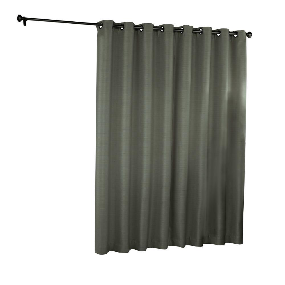 Bryson Blackout Patio Door Window Panel in Grey - 100 in. W x 84 in. L