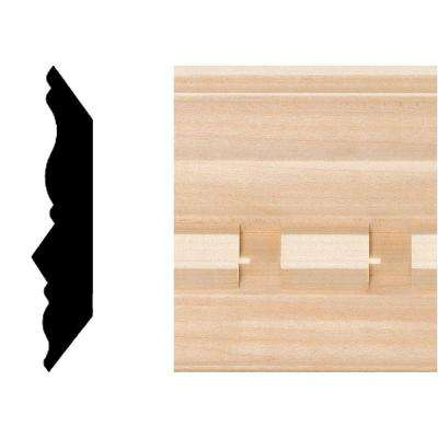 3/4 in. x 3-5/8 in. Hardwood Dentil Crown Moulding