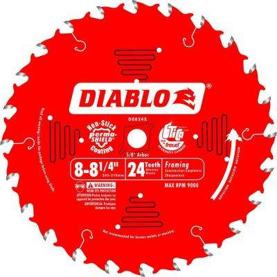 8-8-1/4 in. x 24-Tooth Framing Saw Blade