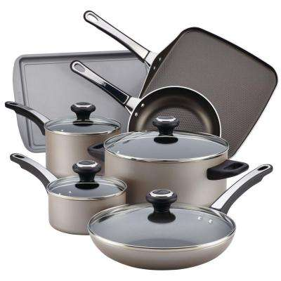 High Performance 17-Piece Chocolate Cookware Set with Lids