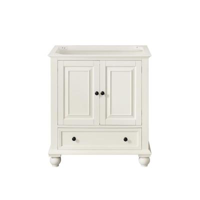Thompson 30 in. W x 21 in. D x 34 in. H Bath Vanity Cabinet Only in French White Finish