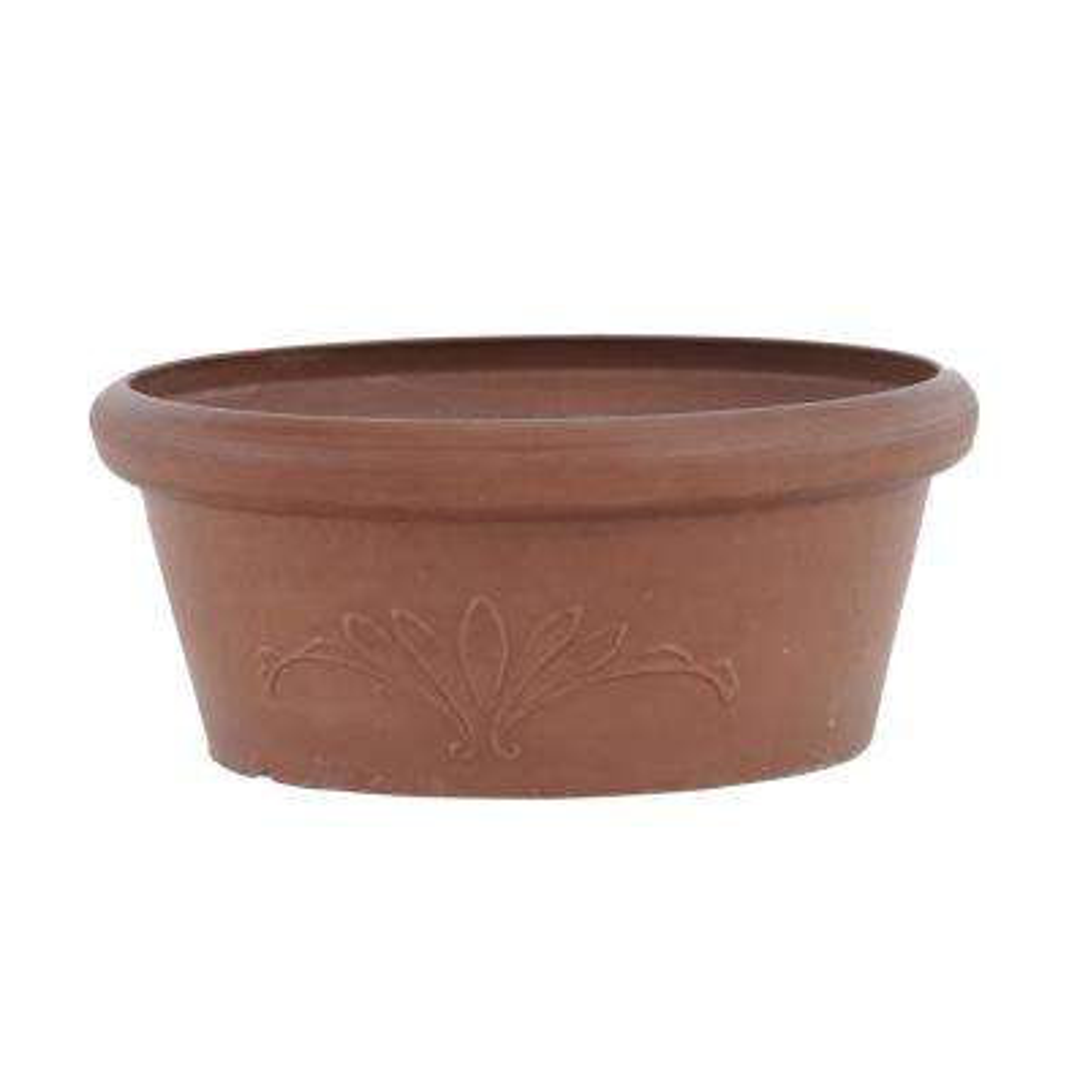 10 in. x 3-1/2 in. Terra Cotta PSW Bulb Pan Pot