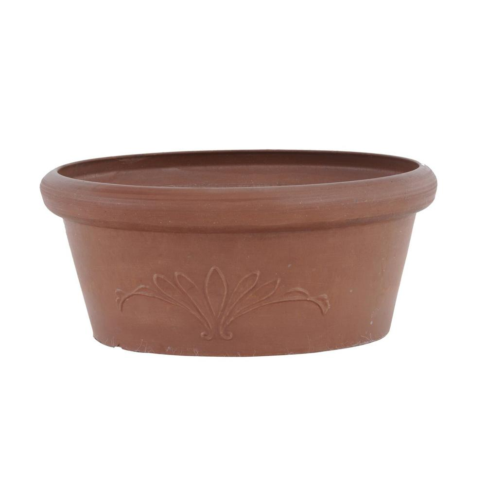 10 in. x 3-1/2 in. Terra Cotta PSW Bulb Pan Pot