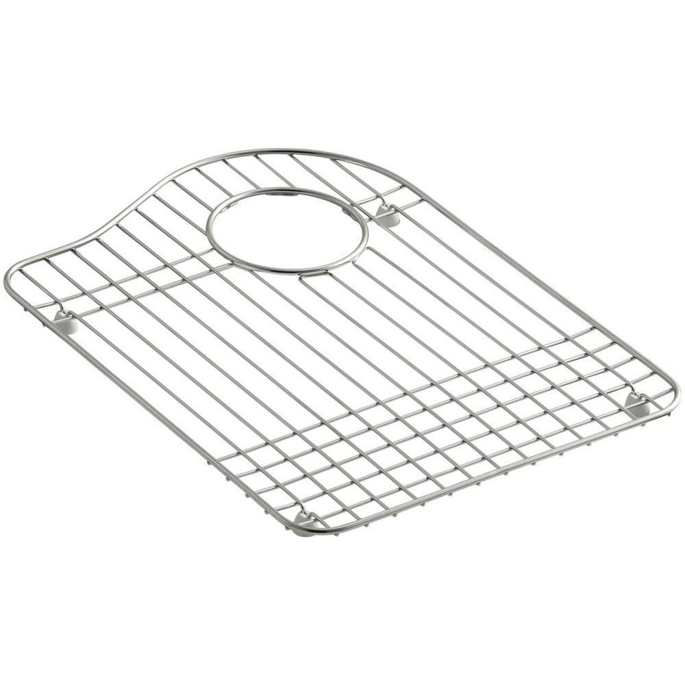 kohler hartland stainless steel bottom basin rack k 6016r st the home depot. Black Bedroom Furniture Sets. Home Design Ideas