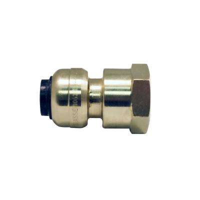 3/8 in. (1/2 in. O.D.) Brass Push-to-Connect x 1/2 in. Female Pipe Thread Reducing Adapter