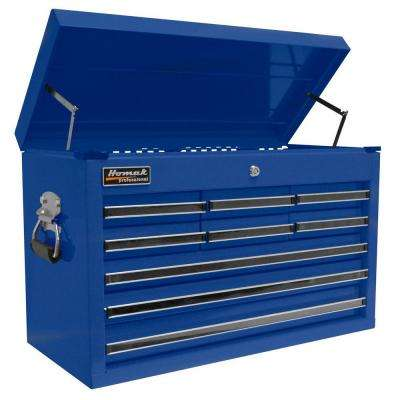 Professional 27 in. 9-Drawer Top Chest, Blue