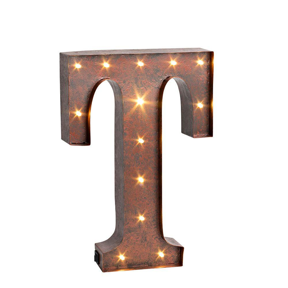 Lighted Metal Initials Metal  Wall Letters & Numbers  Wall Decor  The Home Depot