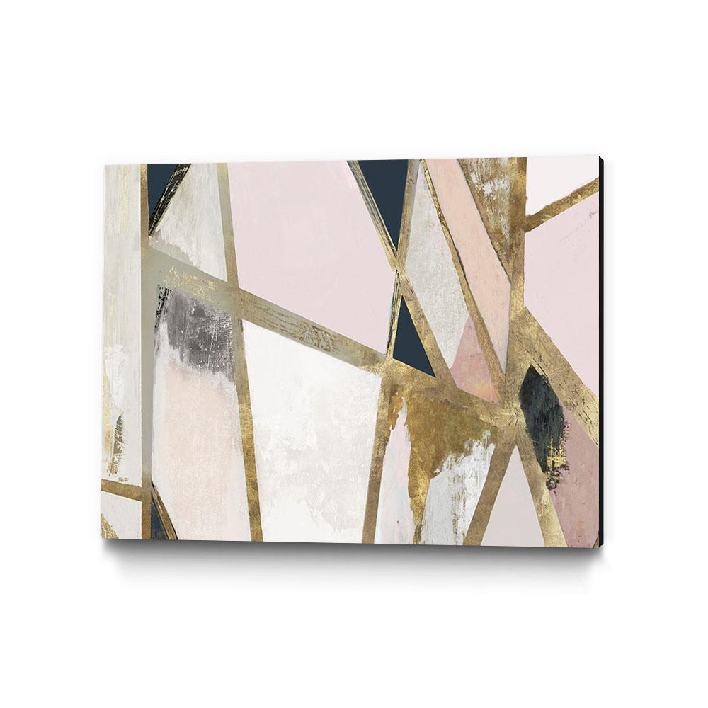 "40 in. x 30 in. ""Warm Geometric II Blush Version"" by PI Studio Wall Art"
