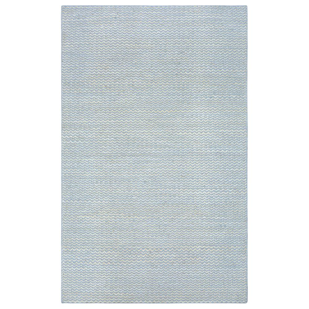 Rizzy Home Ellington Natural/Blue 2 ft. x 3 ft. Rectangle Area Rug
