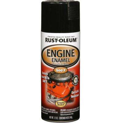 12 oz. Gloss Black Engine Enamel Spray Paint (6-Pack)