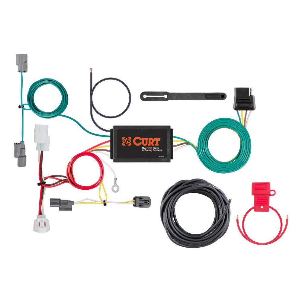 Terrific Curt Custom Wiring Harness 4 Way Flat Output 56269 The Home Depot Wiring Digital Resources Funapmognl