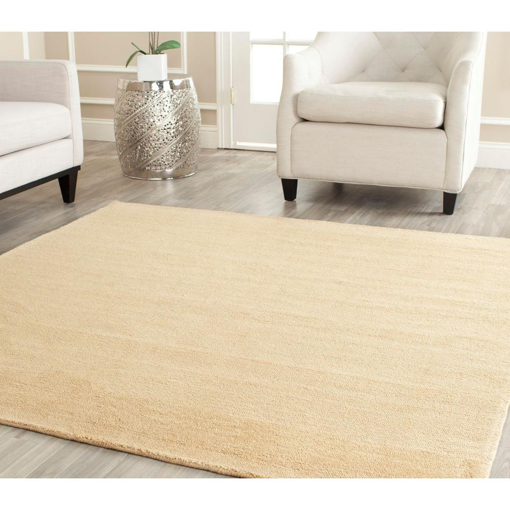Himalaya Beige 8 ft. x 8 ft. Square Area Rug