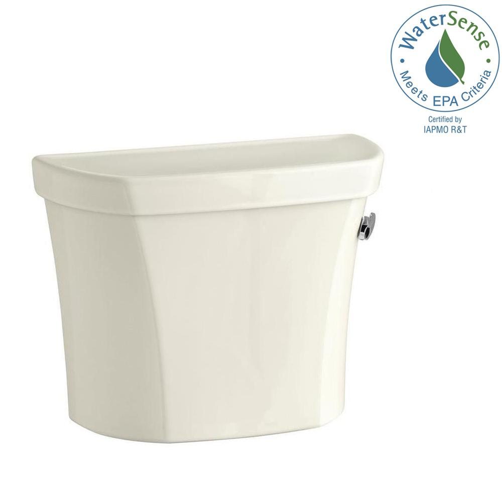 KOHLER Wellworth 1.28 GPF Single Flush Toilet Tank Only in Biscuit