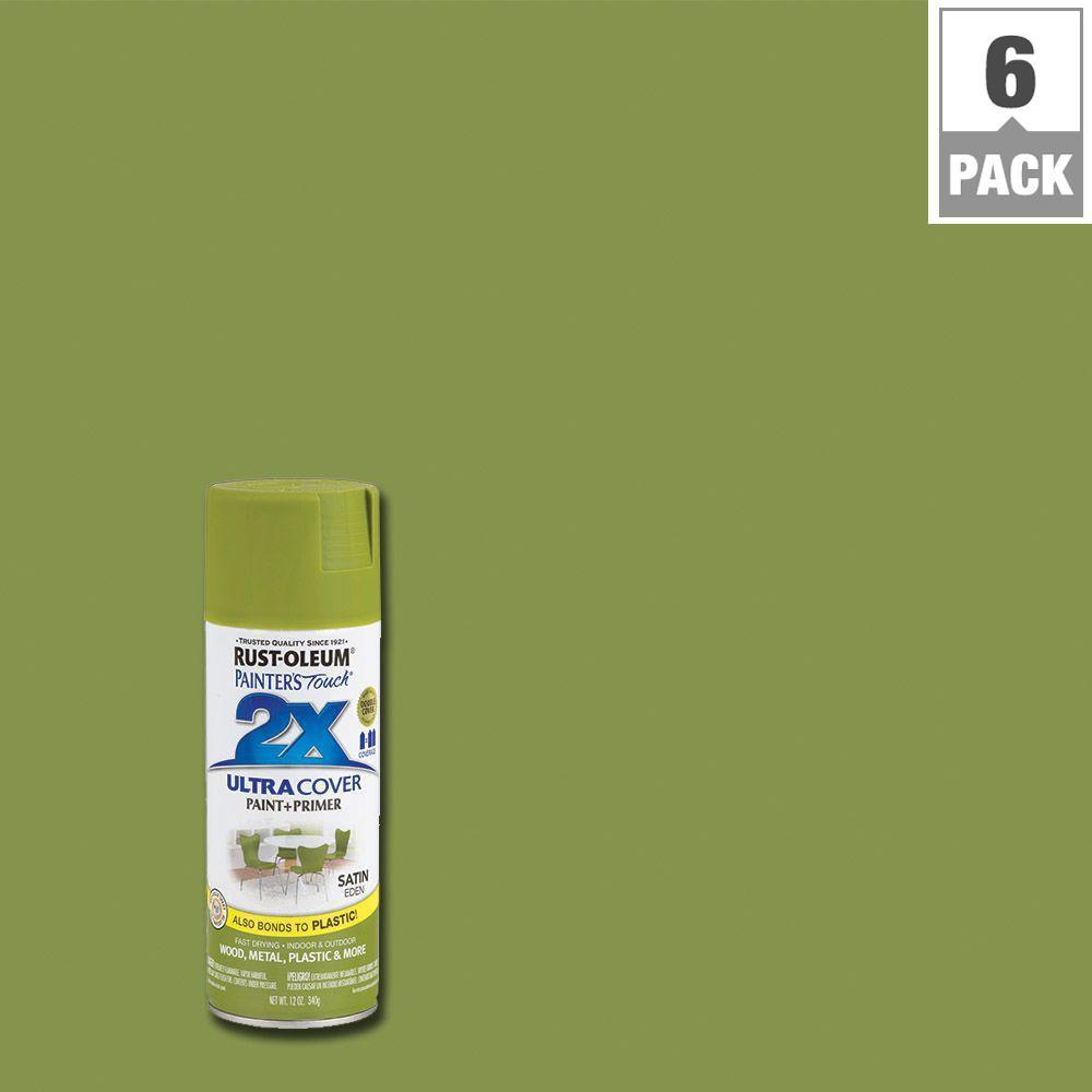 12 oz. Eden Satin General Purpose Spray Paint (6-Pack)