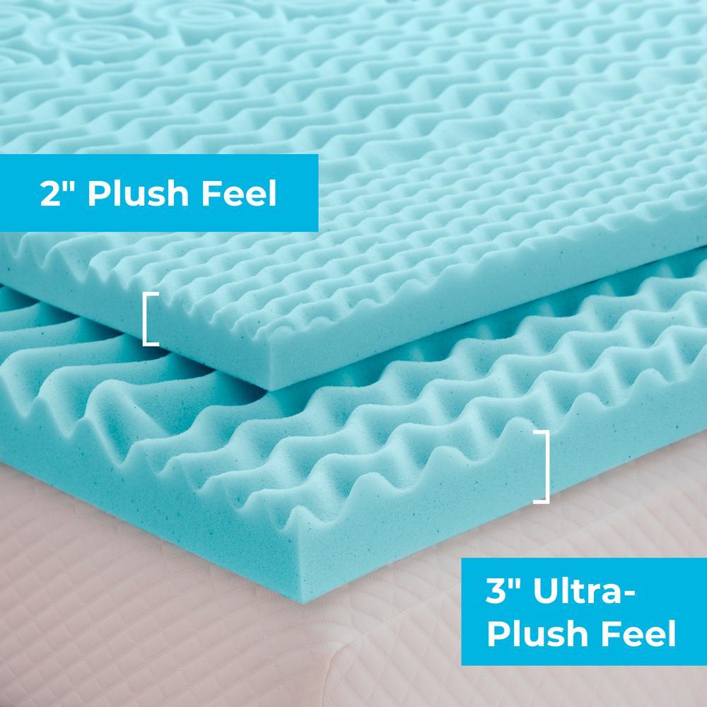 3 Inch Zoned Gel Memory Foam Mattress Topper