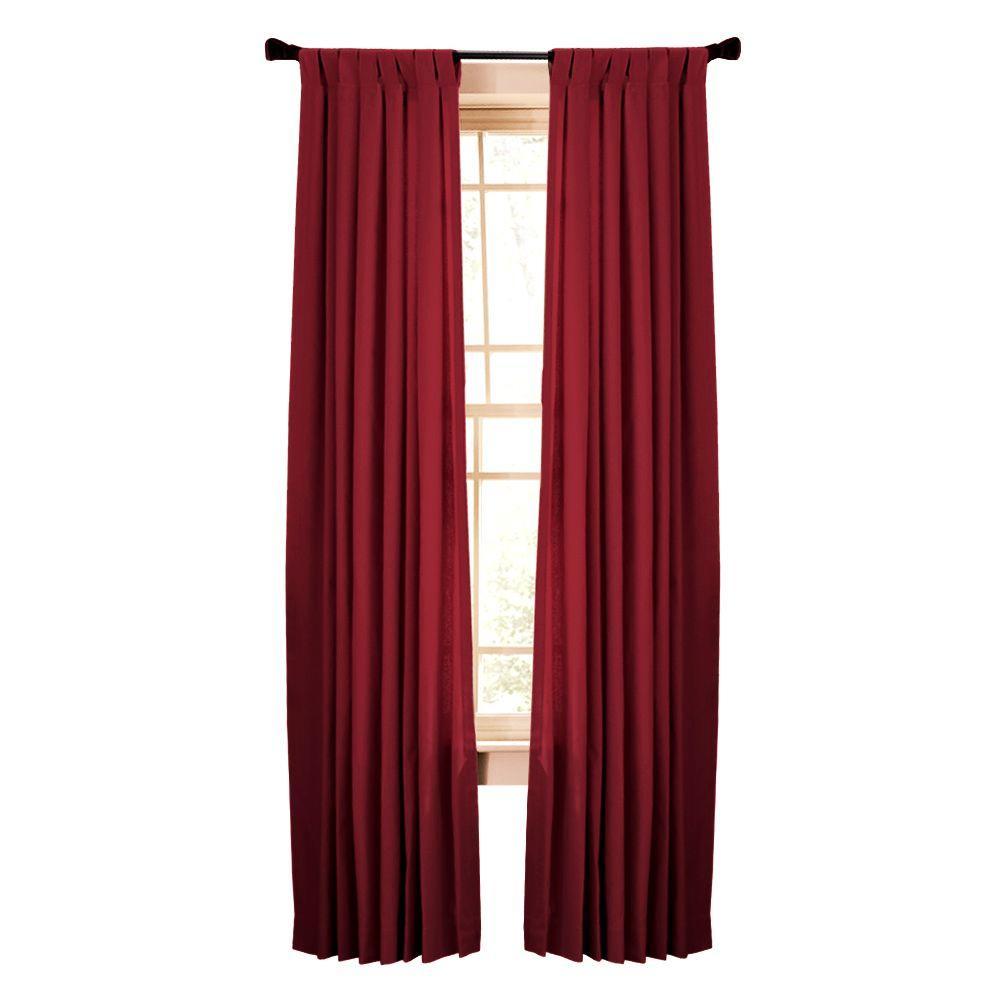Martha Stewart Living Semi-Opaque Vermillion Classic Cotton Tab Top Curtain