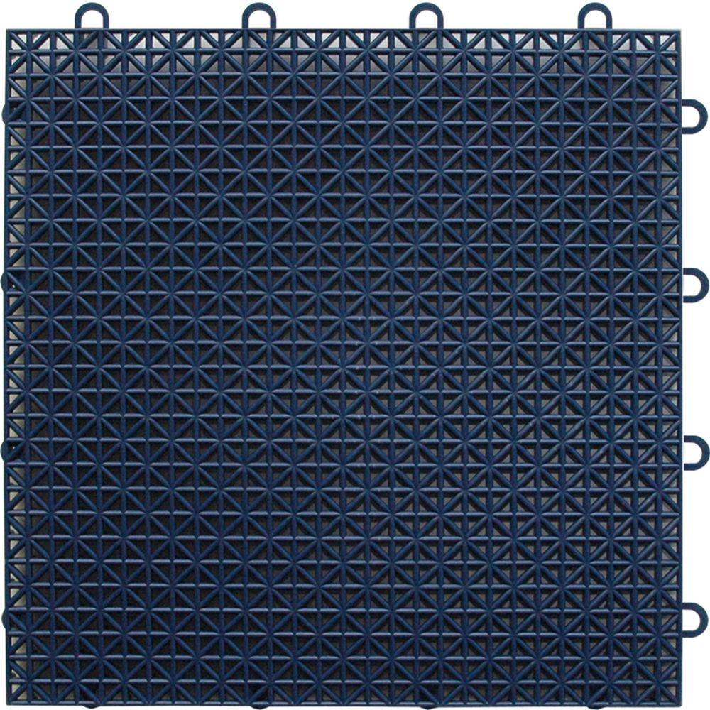 TopDeck Dark-Blue Polypropylene 1ft. x 1ft. Deck Tile (40 - Case)