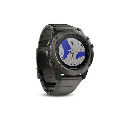 Fenix 5X 51 mm Multisport Sapphire Edition GPS Watch with Metal Band