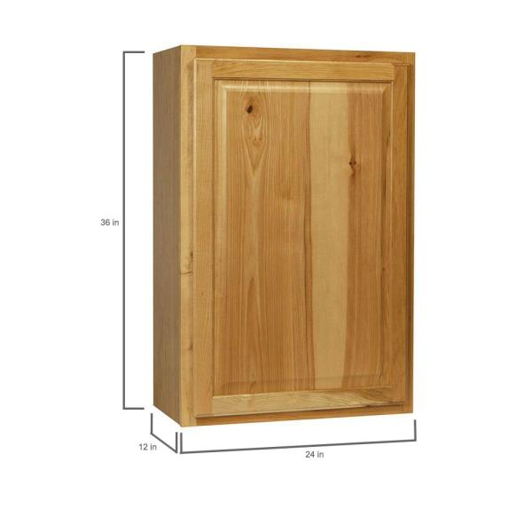 Hampton Bay Hampton Assembled 24x36x12 In Wall Kitchen Cabinet In Natural Hickory Kw2436 Nhk The Home Depot
