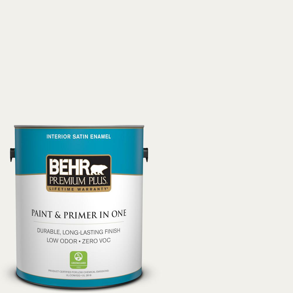 Home Decorators Collection 1-gal. #HDC-MD-06 Nano White Zero VOC Satin Enamel