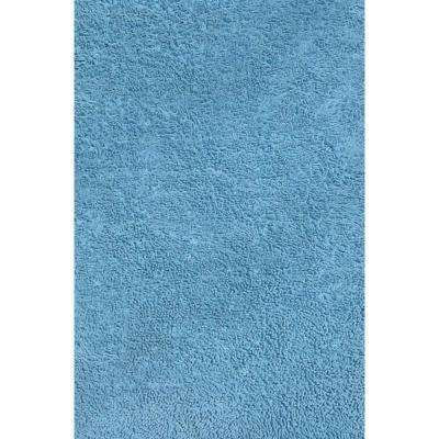 Fun Shag Light Blue 4 ft. 3 in. x 6 ft. 6 in. Area Rug