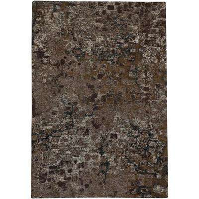 Celestial-Cobblestone Coffee 5 ft. x 8 ft. Area Rug