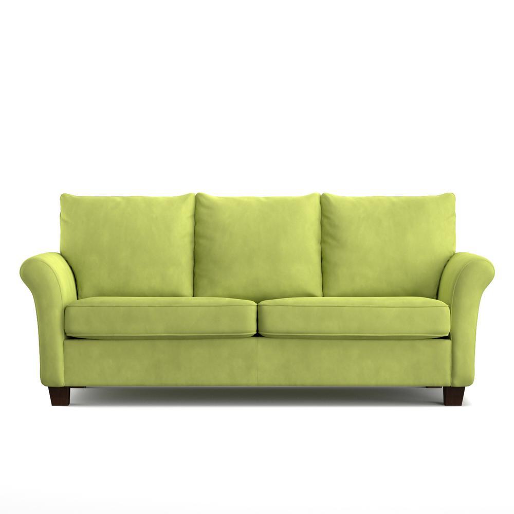 rockford sofast sofa in spring green velvet