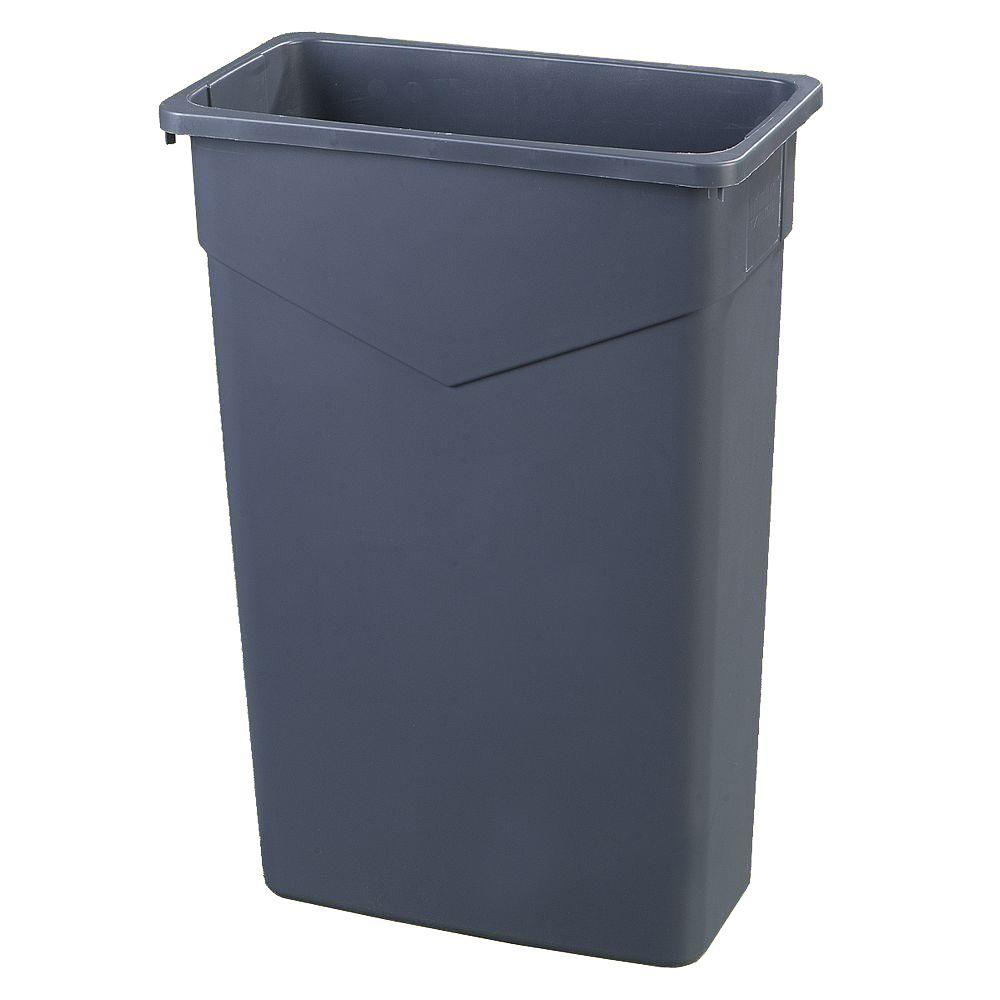 Carlisle CFS34202323 TrimLine Waste Container, 23 Gallon, Polyethylene (LLDPE), Gray, 4 Per Case