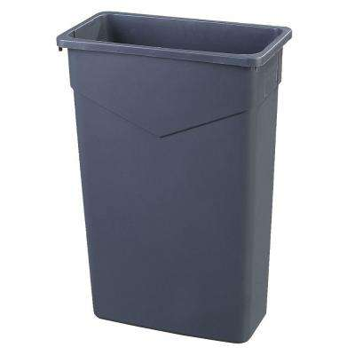 TrimLine 23 Gal. Gray Rectangular Trash Can (4-Pack)
