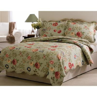Edens Garden Full / Queen Quilt with 2 Shams