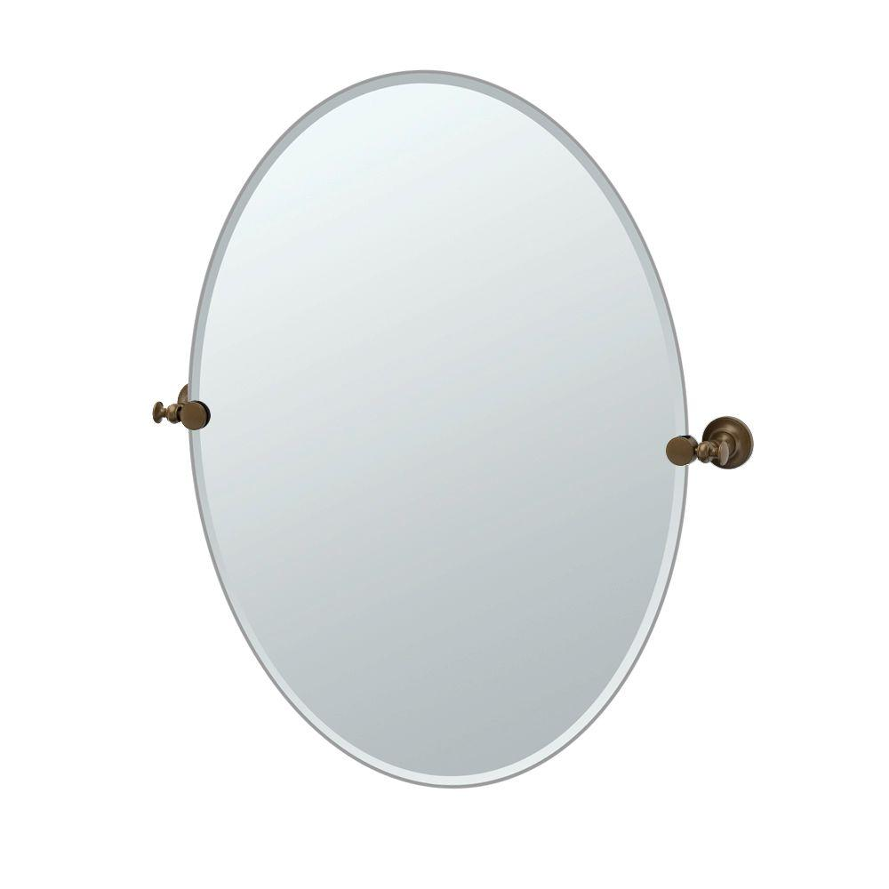W Large Oval Wall Mirror