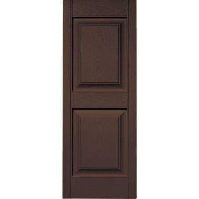 brown raised panel exterior shutters the home depot