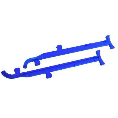 8 in. to 12 in. Cast Aluminum Mason Line Stretchers (Pair)