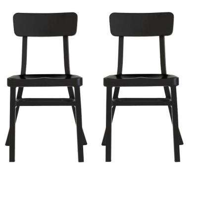 Jacob Black Aluminum Stacking Side Chair (Set of 2)