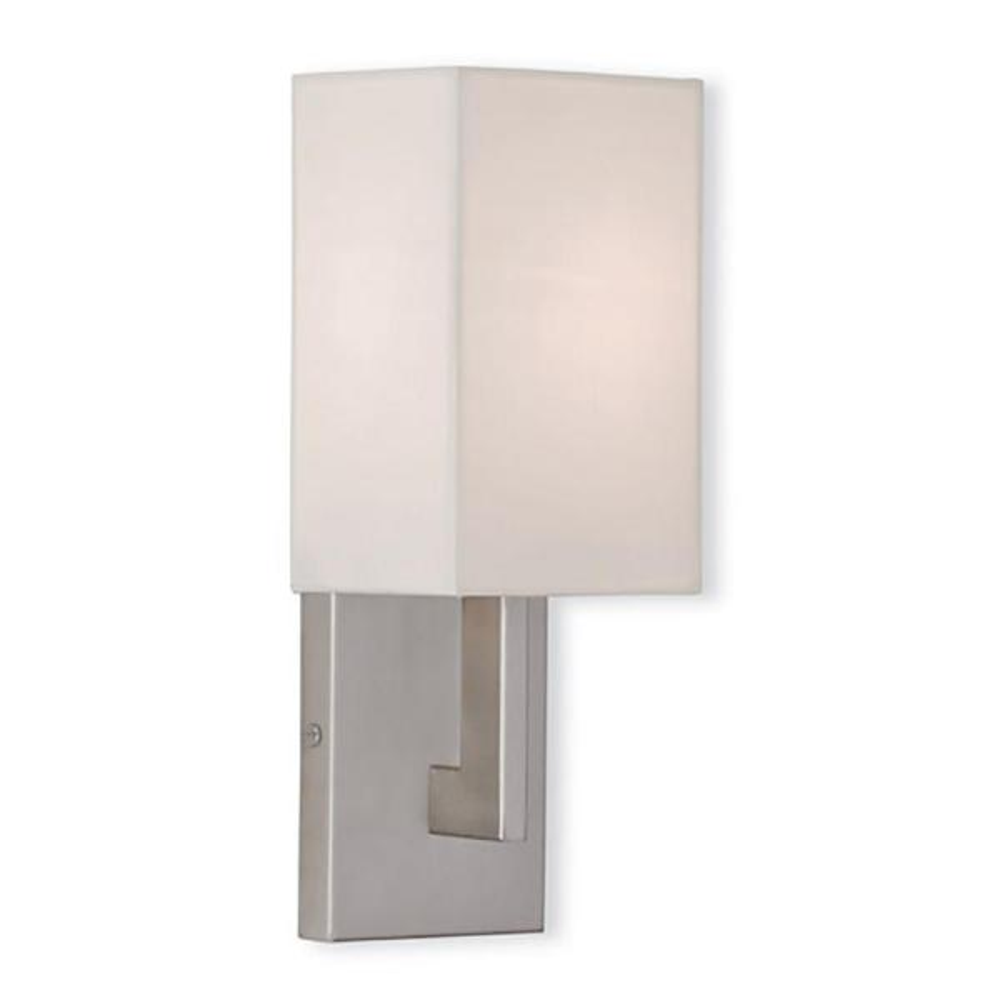 Hollborn 1-Light Brushed Nickel Sconce