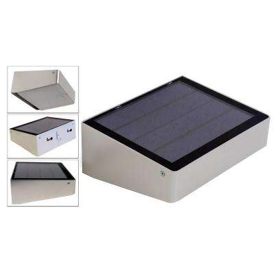 180 Degree Solar Powered 53 LED Outdoor Compact Self-Contained for Entrances, Patios, Walkways, Dusk-to-Dawn Lighting
