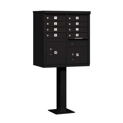 3300 Series Black Private 8 A Size Doors Type I Cluster Box Unit