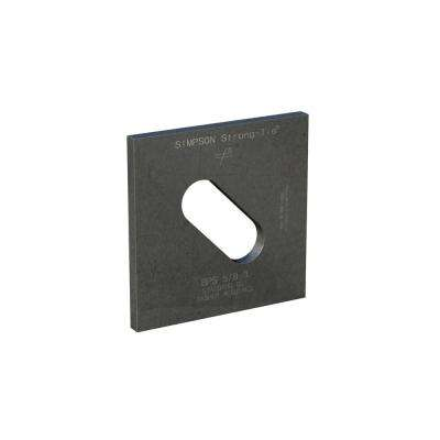 3 in. x 3 in. Slotted Bearing Plate with 5/8 in. Dia Bolt