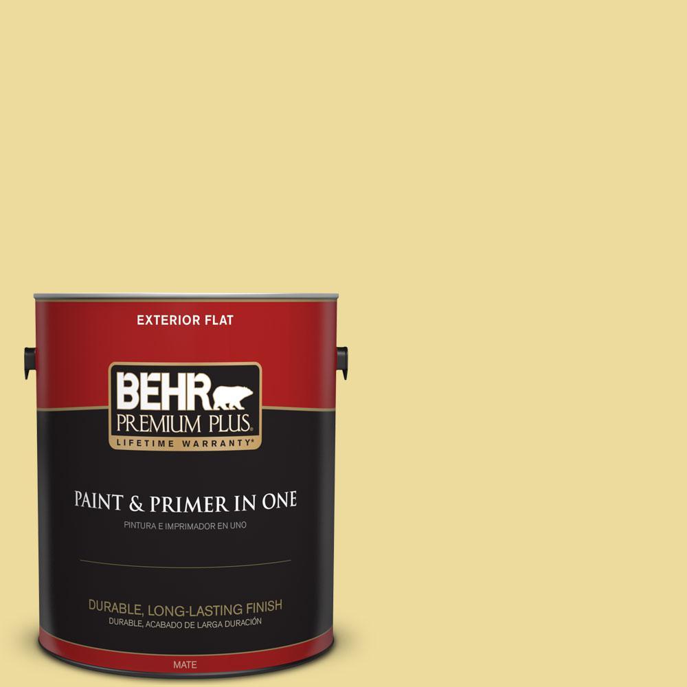 BEHR Premium Plus 1-gal. #P330-3 Pear Cider Flat Exterior Paint