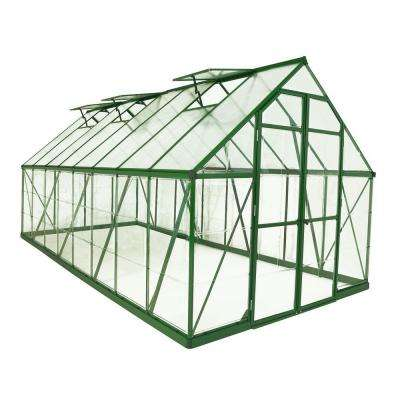 Balance 8 ft. x 16 ft. Green Polycarbonate Greenhouse