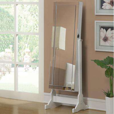 Ella White Jewelry Armoire