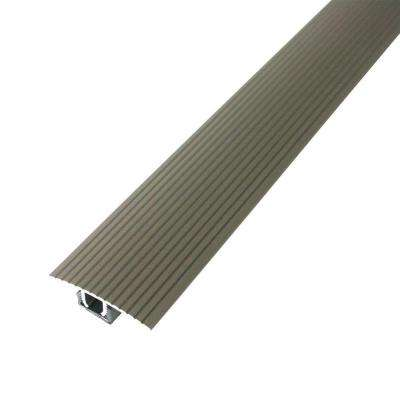 Cinch 1.5 in. x 36 in. Satin Nickel Fluted T-Molding Transition Strip for Similar Height Floors with Snap Track