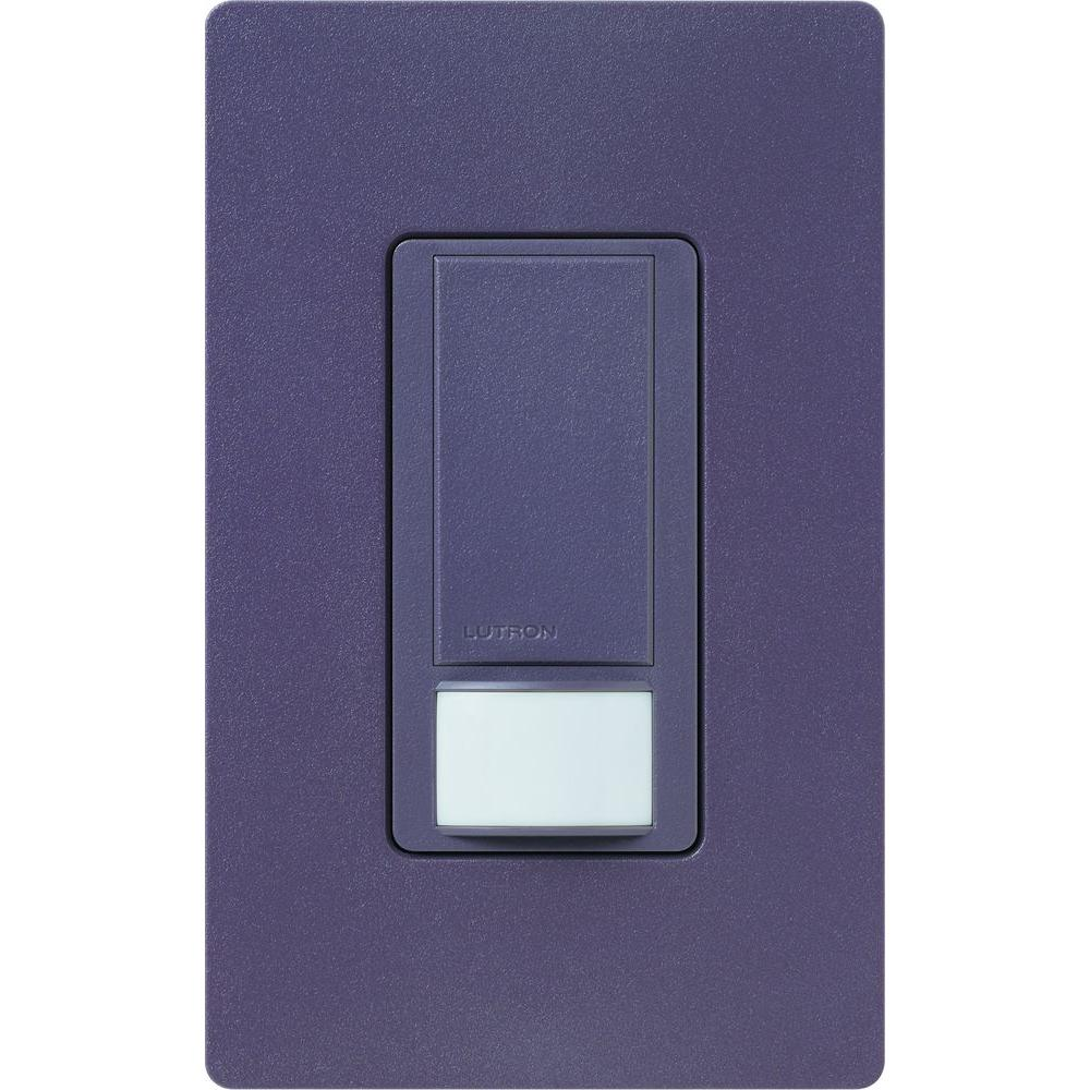 Lutron Maestro Vacancy Sensor switch, 2-Amp, Single-Pole,Plum
