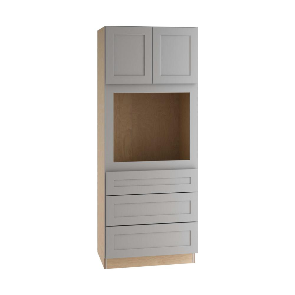 Home Decorators Assembled Pantry Utility Cabinet Soft Close Drawers