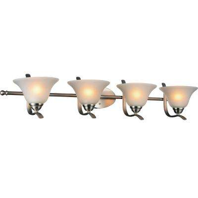 Cosmo 4-Light Satin Nickel Sconce