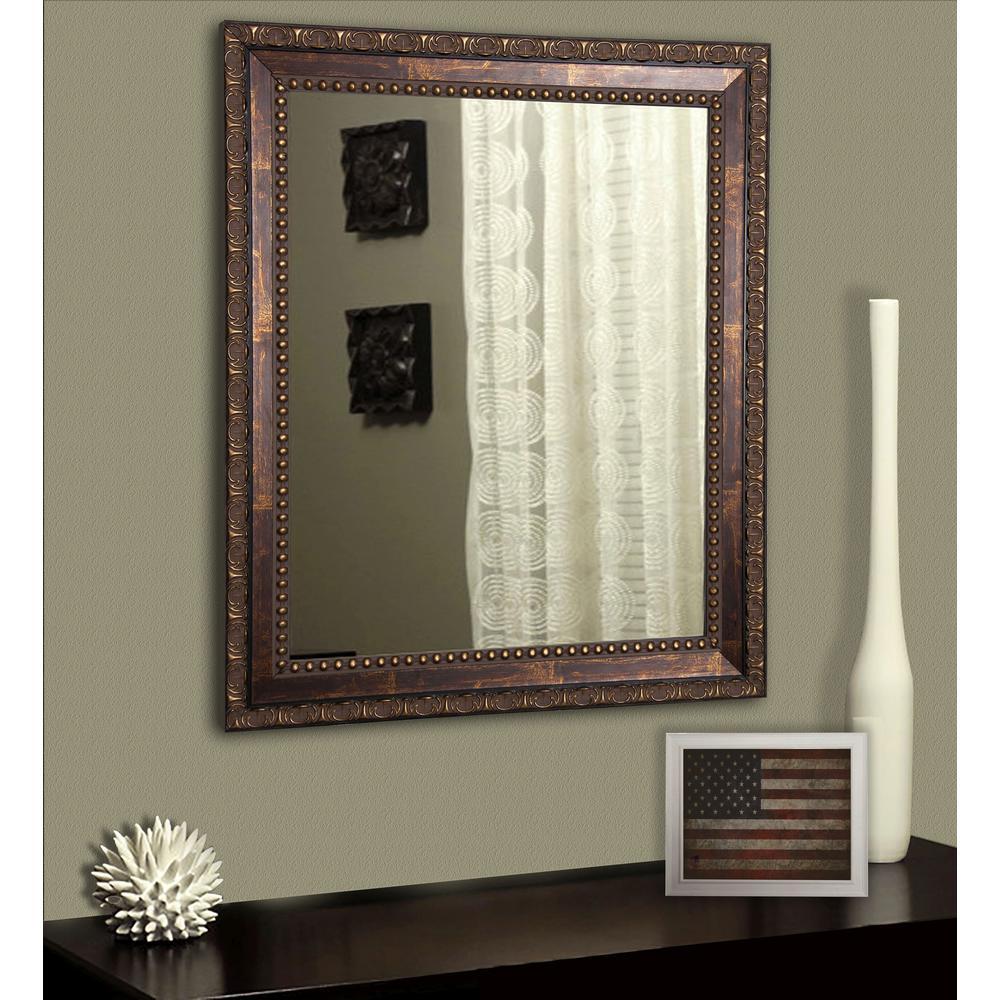 Roman Copper Bronze Non Beveled Vanity Wall Mirror V041 18