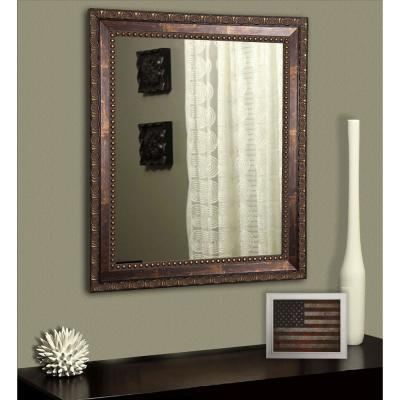 Large Rectangle Cracked Bronze Classic Mirror (48 in. H x 36 in. W)