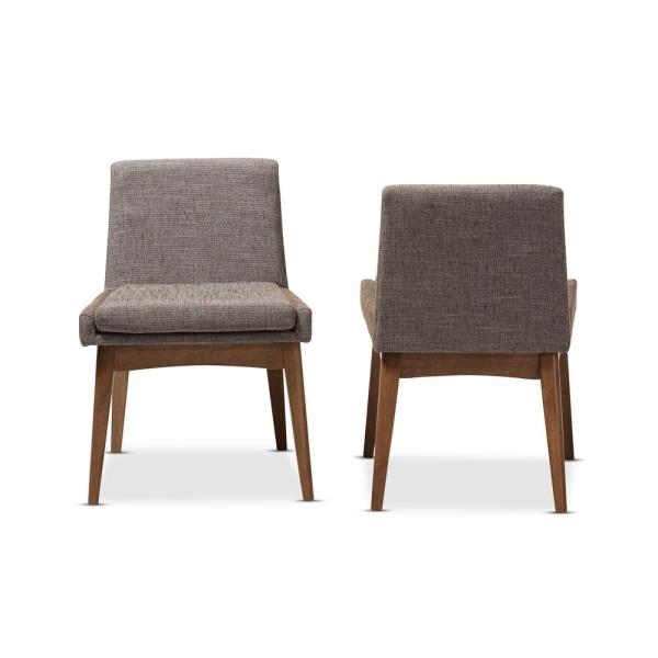 Nexus Gray Fabric Upholstered Dining Chairs (Set of 2)