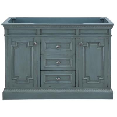 Cailla 48 in. W x 21.50 in. D Bath Vanity Cabinet Only in Distressed Blue Fog